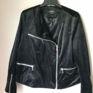 NWOT Coffee Shop New York Black Velvet Jacket 1X